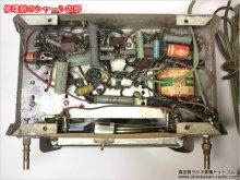 5球スーパー 自作 真空管ラジオの修理 横浜市 K様 【ラジオ修理前のシャーシ内部の状態】